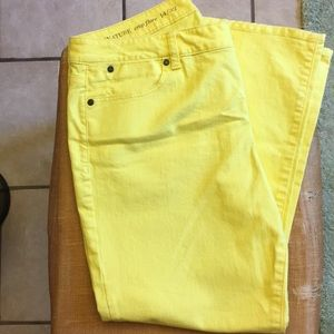 Yellow Denim Capris sz 32